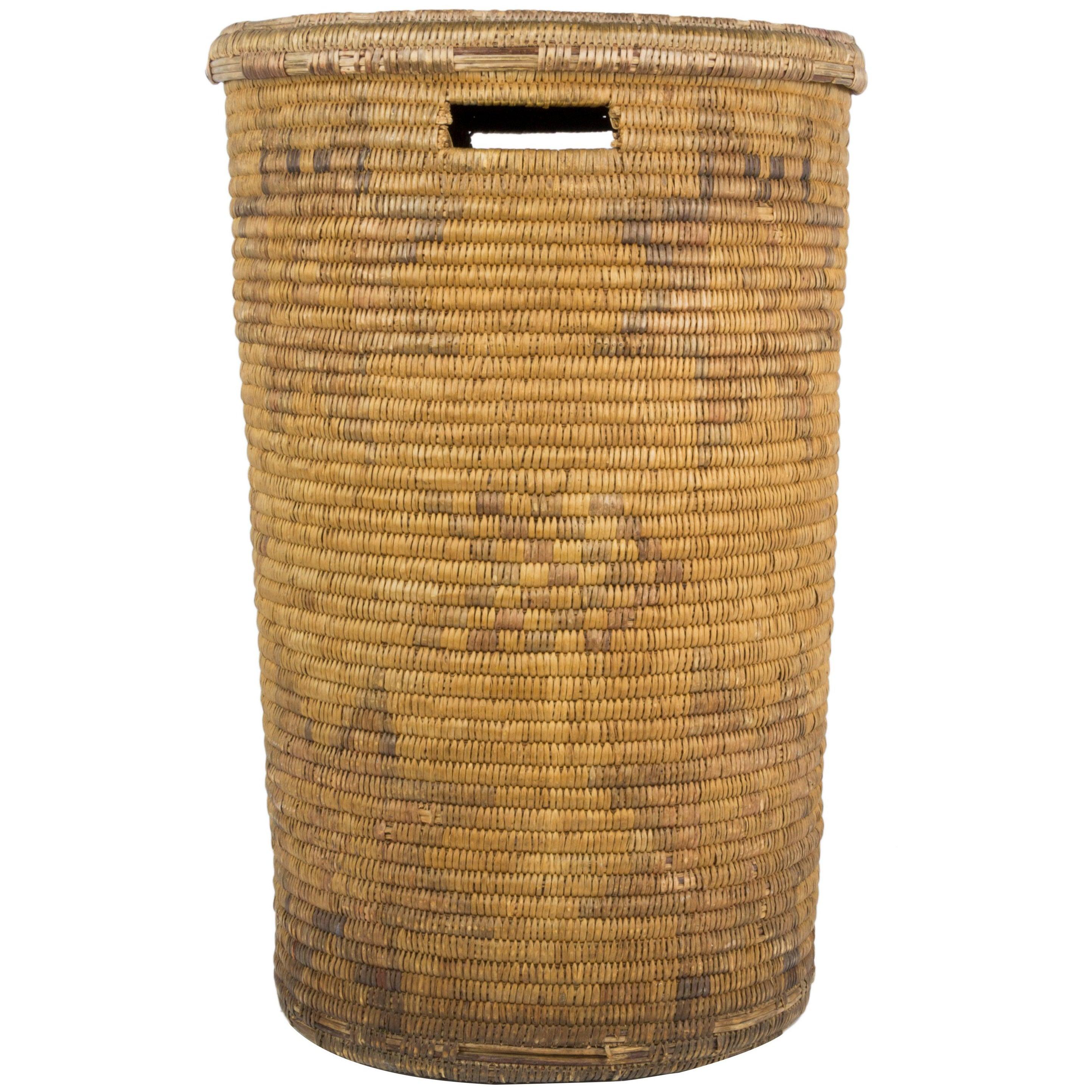 Jicarilla Lidded Storage Basket