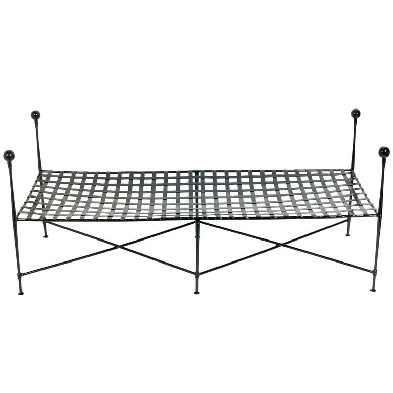 Sculptural Iron Bench by Salterini