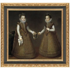 Princesses Eugenia and Catalina Micaela, After Renaissance Revival Oil Painting