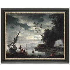 Mediterranean Landscape, After Baroque Oil Painting by Charles De Lacroix