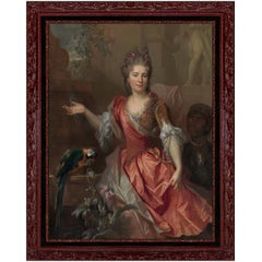 Madame De Thorigny, After Baroque Oil Painting by Nicolas De Largillière
