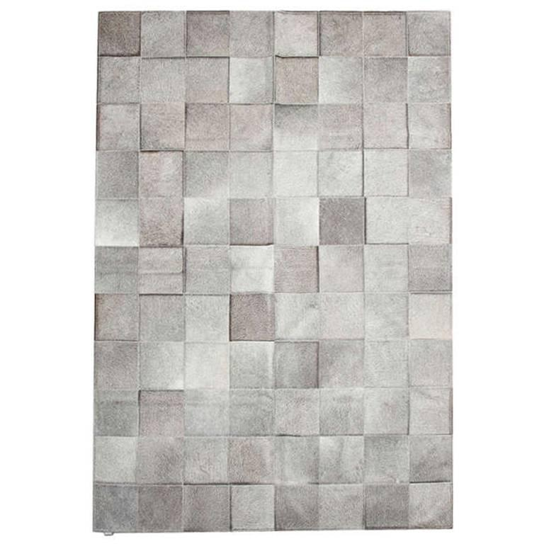 Pure Exotic Zebu Patchwork Cowhide Rug For Sale