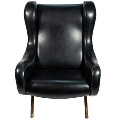 Marco Zanuso Lady Armchair, Leather, circa 1970, Italy