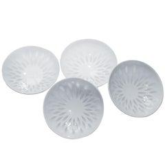 Group of Scandinavian Rice Grain Porcelain Bowls by Friedl Holzer Kjellberg