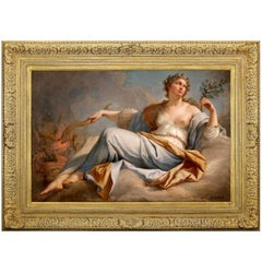 Roman Goddess Pomona, after Neoclassical Oil Painting by Jacques Dumont