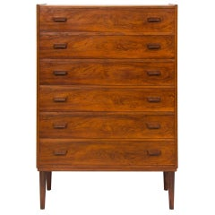 1960s Rosewood Danish Chest of Drawers by Poul Volther