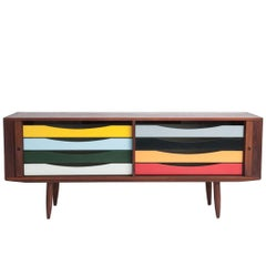 Danish Teak Sideboard by Bruno Hansen