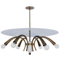 Italian Dome and Brass Chandelier