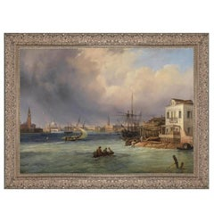 Venetian Storm, after Baroque Revival Oil Painting by Carlo Grubas