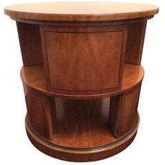 Midcentury Baker Palladian Inspired Revolving Book Case or Side Table