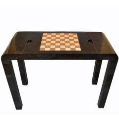 Maitland Smith Tessellated Stone over Wood Game Table Console