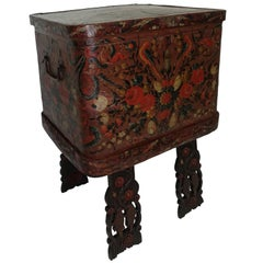 Norwegian Scandinavian Painted Dowery Chest, circa 1800