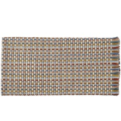 Missoni Home Jocker Throw in Beige and Red with Knit Patchwork