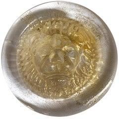 Nason, Italian Murano Glass Leo Lion Paperweight. Venezia Murano Italy
