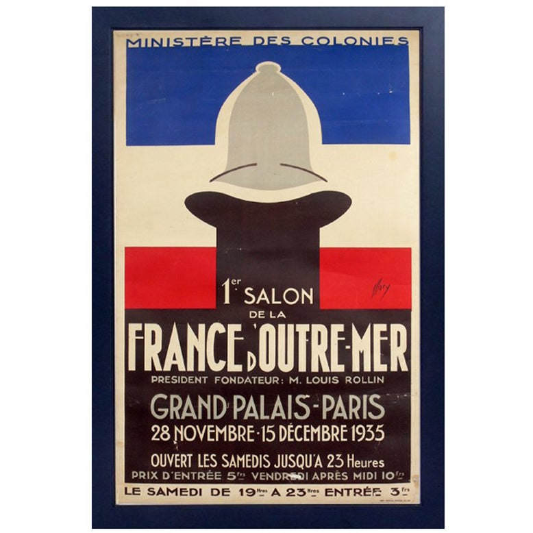 Original 1930s French Art Deco Poster by Fabrice Mory