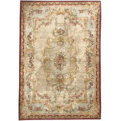 Large Antique French Savonnerie 19th Century Rug