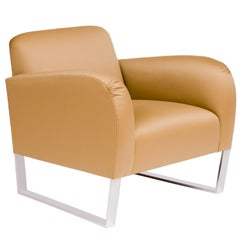Donghia Focal Chair in Camel Wool Upholstery