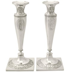 1870s German Silver Candlesticks