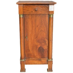 Empire Bedside Table in Light Walnut of French Origin Dated 1840