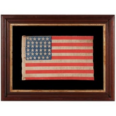 Civil War Era Parade Flag with 36 Stars in a Scarce Form