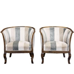 Mid-20th Century Scandinavian Birch Club Armchairs