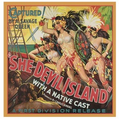 She-Devil Island, after Vintage Movie Poster, Hollywood Regency Era