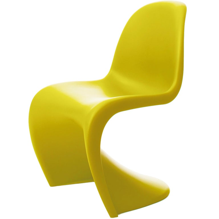 Vitra Panton Chair in Chartreuse by Verner Panton For Sale