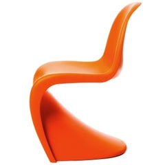 Vitra Panton Chair in Tangerine by Verner Panton