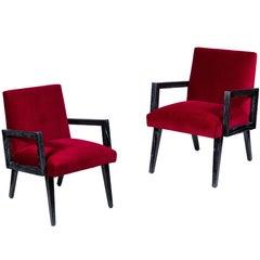 Pair of Midcentury Paul Frankl Chairs in Cerused Oak