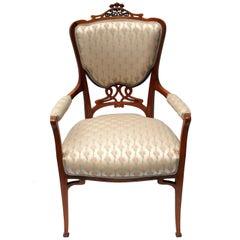 Art Nouveau Mahogany Armchair