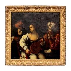 18th Biblical Oil on Canvas Pietro della Vecchia Aka Pietro Muttoni