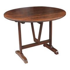 French 19th Century Walnut and Oak Wine Tasters Table