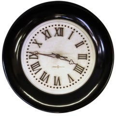 Impressive American Standard Electric Time Co. Marble Clock with Wooden Frame