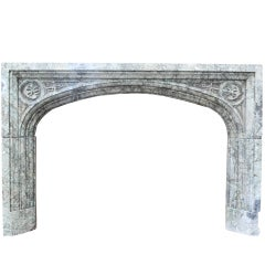 Early 19th Century Maurin Green Marble Fire Surround