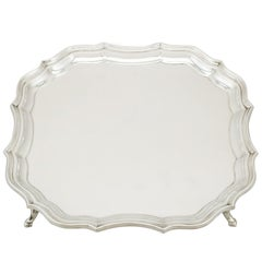 Vintage English Sterling Silver Salver, 1959