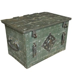 18th Century Iron Nuremberg Strong Box, Trunk
