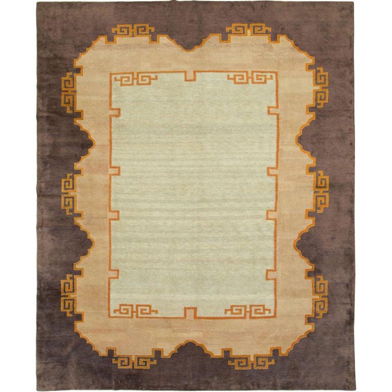 Antique Chinese Art Deco Carpet