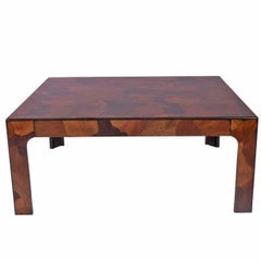 1970s American Burl Patchwork Coffee Table