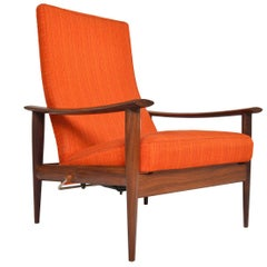 Danish Mid-Century Modern Highback Teak Reclining Lounge Chair