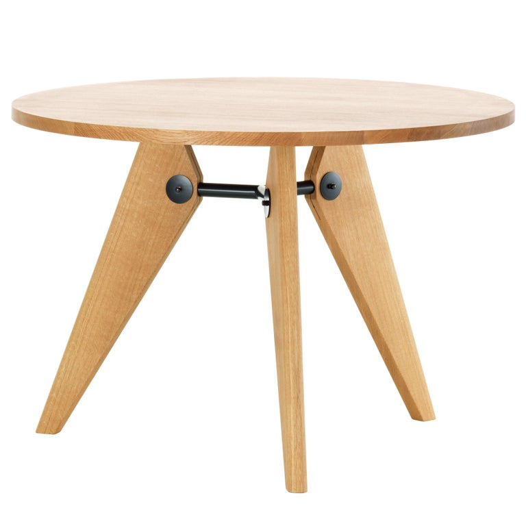 Jean Prouvé Guéridon Dining Table in Natural Oak for Vitra