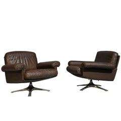 Vintage De Sede DS 31 Lounge Swivel Armchairs, Switzerland 1970s
