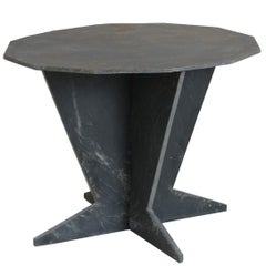Midcentury French Slate Center Table from Trelaze