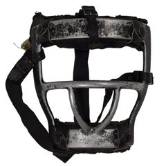 Vintage Metal and Leather Platform Catcher's Mask, circa 1960