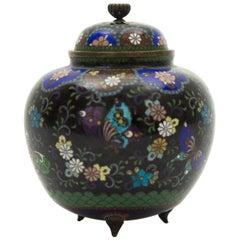 19th Century Japanese Cloisonné Ginger Jar