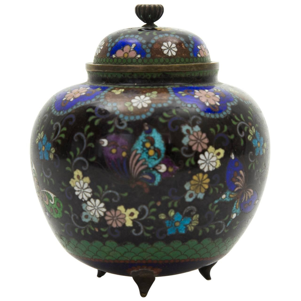 Relatively 19th Century Japanese Cloisonné Ginger Jar For Sale at 1stdibs XT99