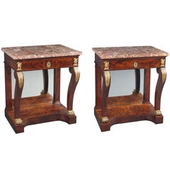 Pair of French Empire Console Tables