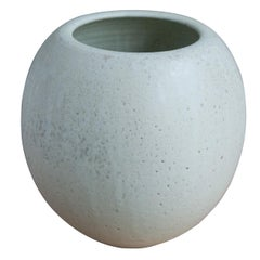 One off Bulbous Vase off White Glaze