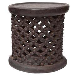 African Tall Drum Table