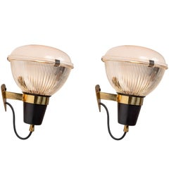 Pair of 1950s Ignazio Gardella LP6 Sconces for Azucena