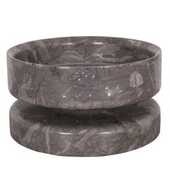 Reversible Marble Bowl by Angelo Mangiarotti for Knoll International, circa 1960